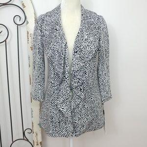 Calvin Klein black & white cardigan jacket 4P
